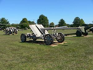 8.8 cm Pak 43 - Pak 43 on cruciform mount, in towing configuration