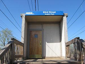 83rd Street (Avalon Park) station - Image: 83rd Street (Avalon Park) Metra Station