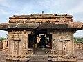 8th century Nandi at the active Virupaksha Shaivism temple (priest present in various shrines), Pattadakal Hindu monuments Karnataka.jpg