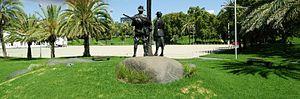 Torrens Parade Ground -  ATSI War Memorial (by Robert Hannaford)