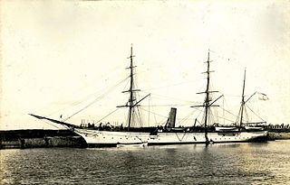 Steam corvette, training ship of the Argentine Navy in the late 1800s.