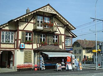 Aarwangen - Front of the historic Aarwangen train station