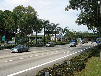 Expressways of Singapore - Clementi section of the Ayer Rajah Expressway.