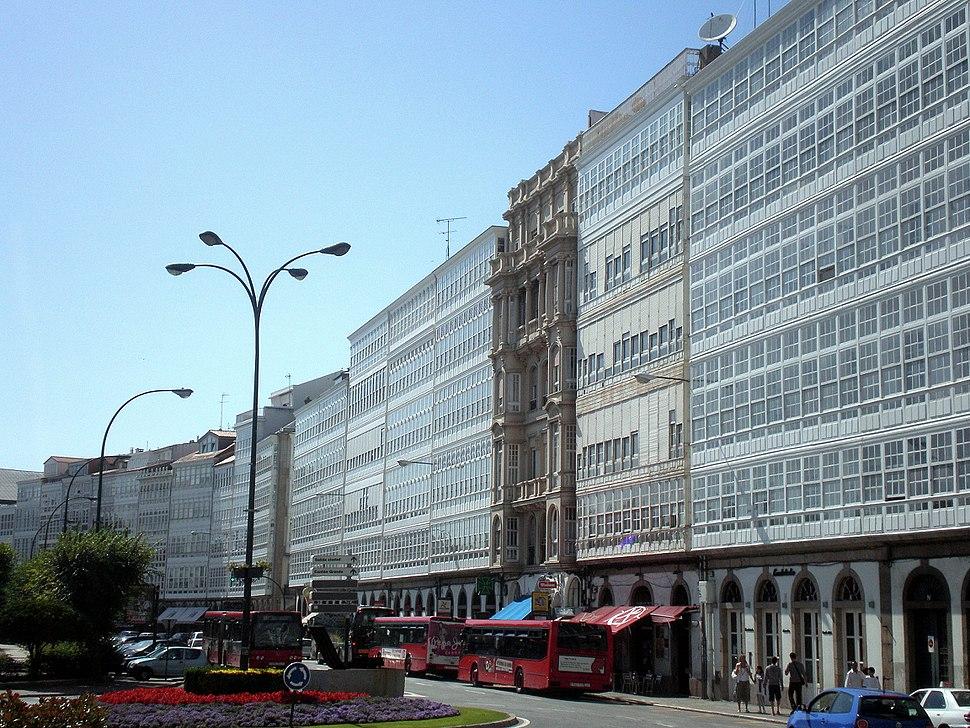 A Coruña, avenida da Marina