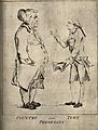 A large country doctor conversing with a slim well-groomed c Wellcome V0010891.jpg