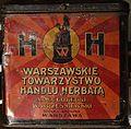 """A metal box of tea signed """"Warszawskie Towarzystwo Handlu Herbatą"""".JPG"""