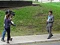 A reporter, producer and cameraman, on Scadding Avenue, 2015 05 12 (4).JPG - panoramio.jpg