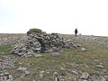 A rough but welcome little shelter on Carn Ban Mor - geograph.org.uk - 246839.jpg
