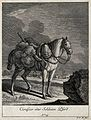 A soldier-horse with a shotgun attached to the saddle cloth Wellcome V0021150EL.jpg