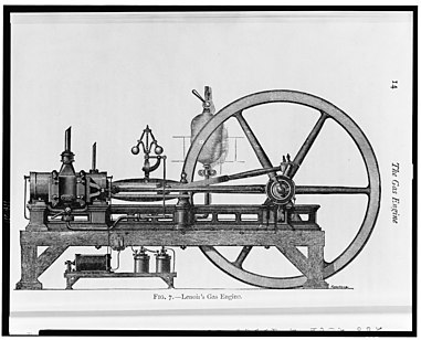 A three-horsepower internal combustion engine that ran on coal gas A three-horsepower internal combustion engine that ran on coal gas LCCN2006691790.jpg