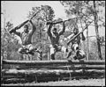 A trio of recruits in training to take their places as fighting Leathernecks in the U.S. Marine Corps... - NARA - 532514.jpg