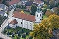 A városlődi Szent Mihály-templom légi felvételen.jpg
