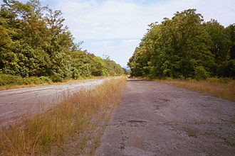 Abandoned Pennsylvania Turnpike - Nature is starting to reclaim parts of the original 1940s roadway.