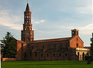 Chiaravalle Abbey building in Milan, Italy