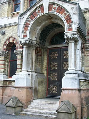Abbey Mills Pumping Station - Image: Abbeymillsdoor