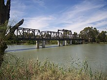Photograph of Abbotsford Bridge spanning the Murray River