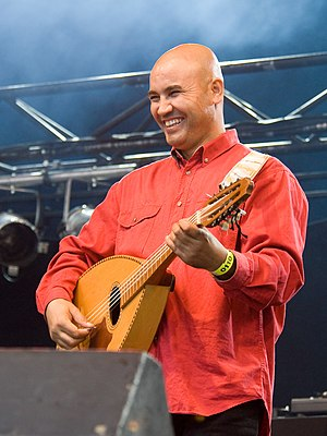 Music of Africa - Algerian musician Abderrahmane Abdelli playing the oud