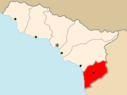 Location of Gali district in AR of Abkhazia