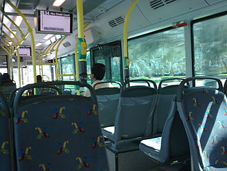 Abu Dhabi Bus service - Interior view
