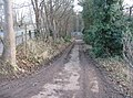 Access track to St Mary's playing fields - geograph.org.uk - 1130320.jpg