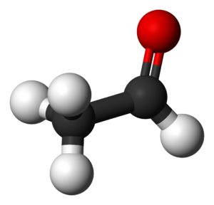 Acetaldehyde - Image: Acetaldehyde 3D balls