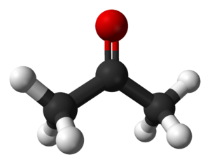 Deuterated acetone - Image: Acetone 3D balls