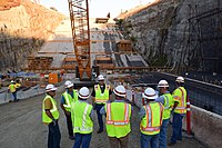 Addicks and Barker dams project team visits Folsom Dam auxiliary spillway (15258672156).jpg