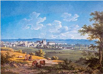 Donaueschingen - The town of Donaueschingen in 1827