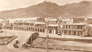Aden - Esplanade Road in the late 1930s