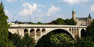 Adolphe Bridge - Image: Adolphe Bridge post 2017 renovation works 7 August 2018