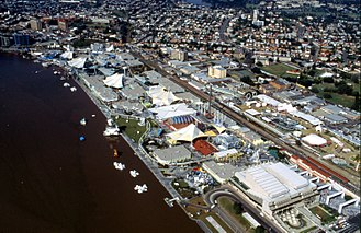 World Expo 88 - Aerial view of the Expo 88 site