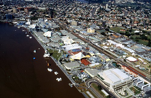 South Bank during World Expo 88 Aerial photograph of the Expo 88 site.jpg