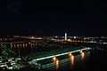 Aerial view of bridges over the Danube in Vienna, at night.jpg