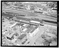 Aerial view of station - Erie Railway, Elmira Station, Railroad Avenue, Elmira, Chemung County, NY HAER NY,8-ELM,2A-1.tif