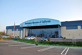 Aerospace Museum of California - A view of the entry to the Aerospace Museum of California