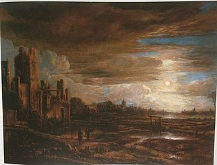Moonlight Landscape with Ruins