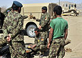 Afghan National Army soldiers eat lunch while participating in Operation Southern Fist III in the Spin Boldak district, Kandahar province, Afghanistan, March 5, 2013 130305-A-MX357-173.jpg