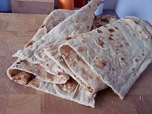 Afghani home bread