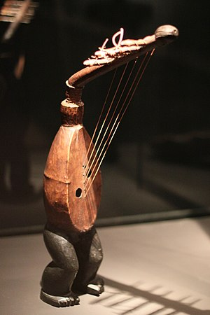 African harp - An arched harp from the Democratic Republic of the Congo