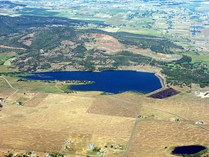 Agate Lake - An aerial image of Agate Lake
