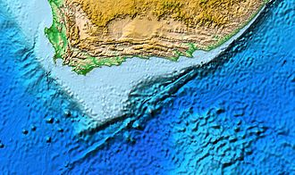 Agulhas Bank - Map of the Agulhas Bank centred on the Outeniqua Basin