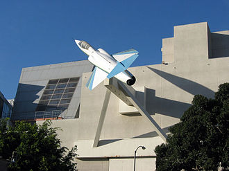 California Science Center - Former California Aerospace Museum (now closed) was designed by Frank Gehry, and displayed a Lockheed F-104 Starfighter