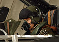Aircrew from a Tornado GR4a checking instuments. KUWAIT. 12-02-2003 MOD 45142405.jpg