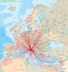 Network aeroporto Leonardo da Vinci - Europa