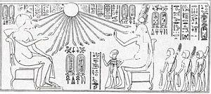 Beketaten - Amenhotep III, Tiye and Beketaten.