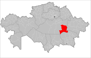 Aktogay District, Karaganda Region - Image: Aktogay Qaraghandy District Kazakhstan