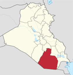 Al-Muthanna in Iraq.svg