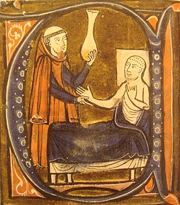 "13th-century depiction of Muhammad ibn Zakariya al-Razi, published in ""Recueil des traités de médecine"" by Gerard of Cremona"