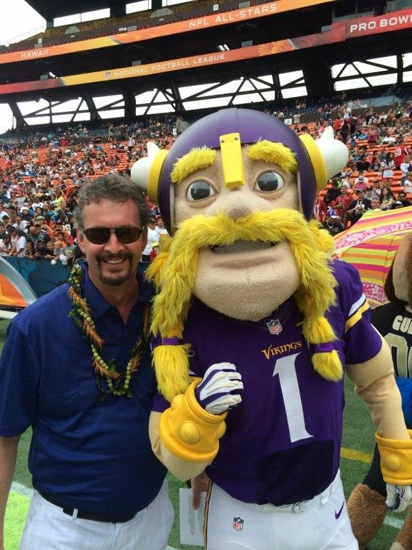 Alan Roach with Viktor the Viking