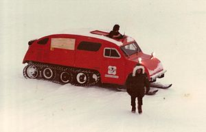 Alaska North Slope - Geophysical Service Inc. seismic exploration crew, Deadhorse, Alaska, 1981